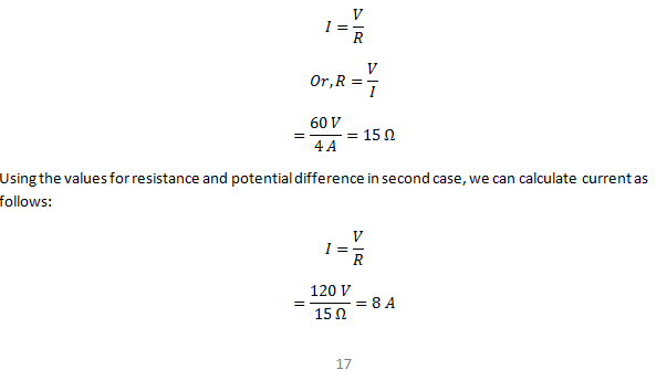Class 10 Electric Potential Ohms Law