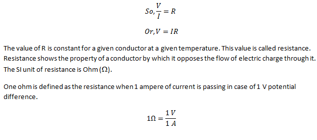 Class 10 Electric Potential-Ohm's Law Long Answer